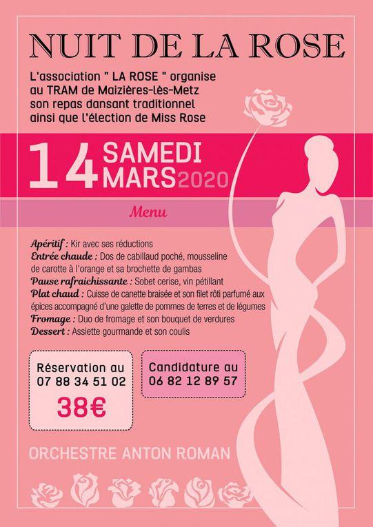 Maizières les Metz repas dansant traditionnel et élection de Miss Rose le samedi 14 mars 2020
