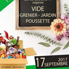 Vide grenier - jardin - poussette du CLTT - 17 Septembre 2017