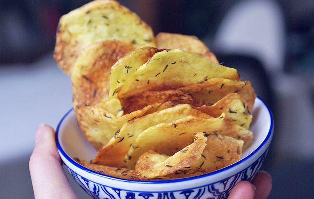 Chips géantes au thym & huile d'olives