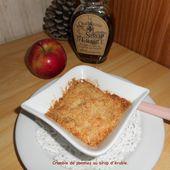 Crumble de pommes au sirop d'érable - Mes recettes et photos de gâteaux