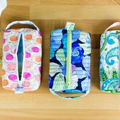 The Pillbox Pouch {free sewing pattern for a cute zipper pouch}
