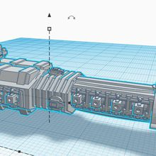 Modélisation 3D d'un Rogue Trader pour Battle Fleet Gothic (BFG)