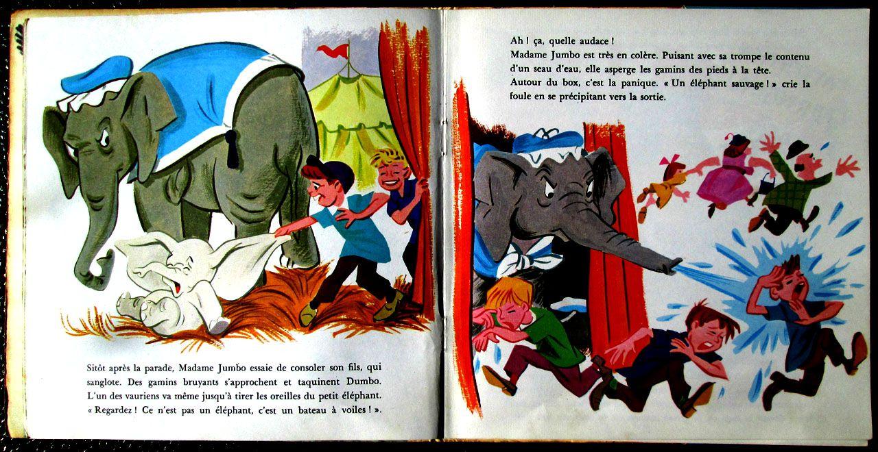 """""""Dumbo l'éléphant volant"""" raconté par Marthe Mercadier - 1971"""