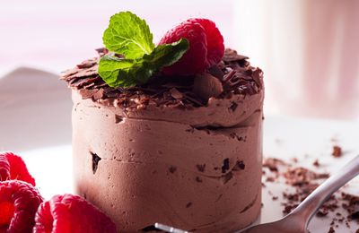 Gourmandises - Nourriture - Glace - Chocolat - Framboises - Douceurs - Photographie - Wallpaper - Free