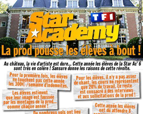 Star Academy : La prod pousse les élèves à bout !