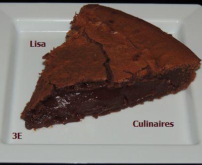 Gâteau très fondant chocolat noir/châtaignes