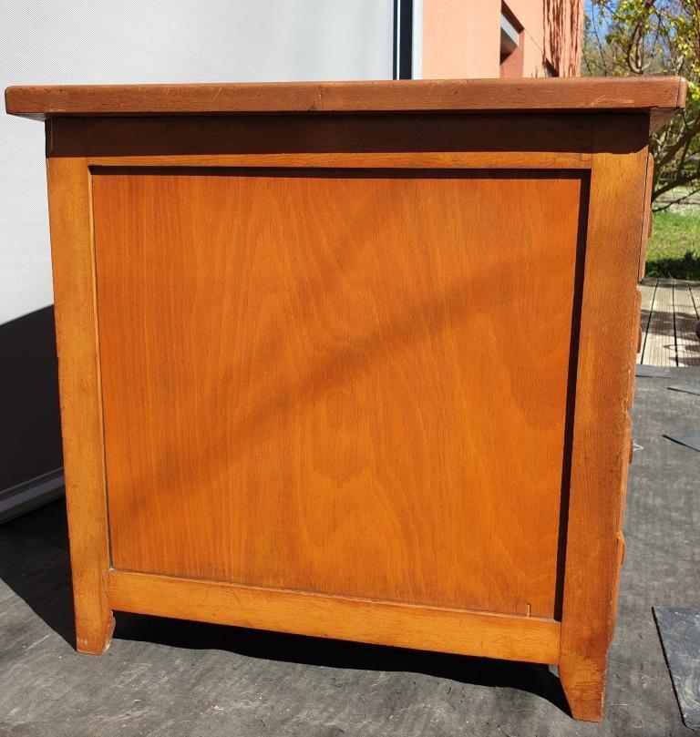 Bureau Chêne 8 tiroirs caissons double 1950 - vendu