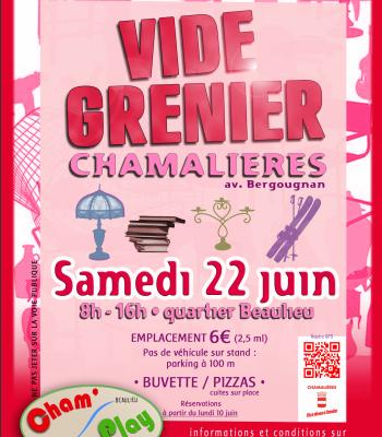 Vide-greniers Cham' Play - samedi 22 juin - quartier Beaulieu à Chamalières