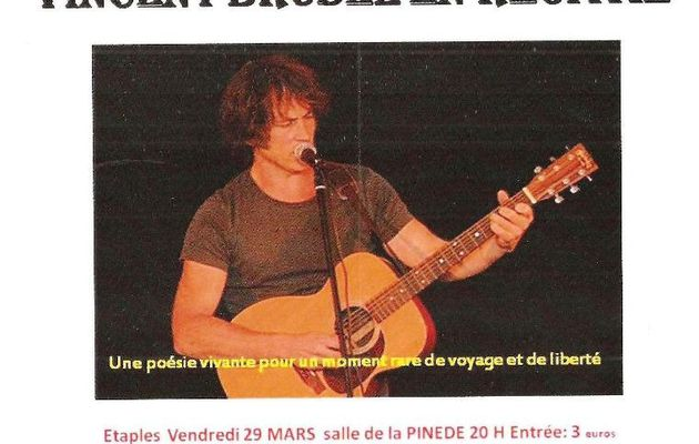 VINCENT BRUSEL ...EN RECITAL ...à ETAPLES...CE VENDREDI