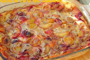 Clafoutis aux prunes et abricots cannelle - vanille