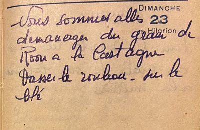 Dimanche 23 octobre 1960 - des métayers déménagent