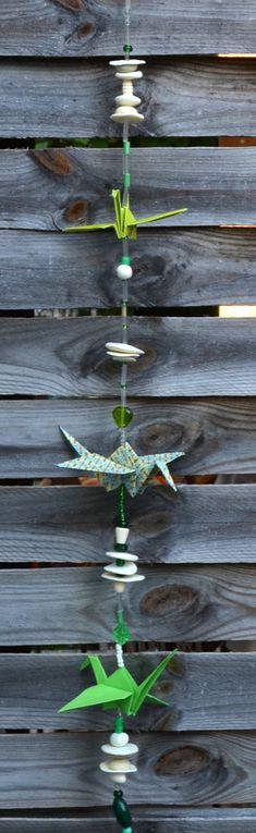 Des mobiles d'origamis