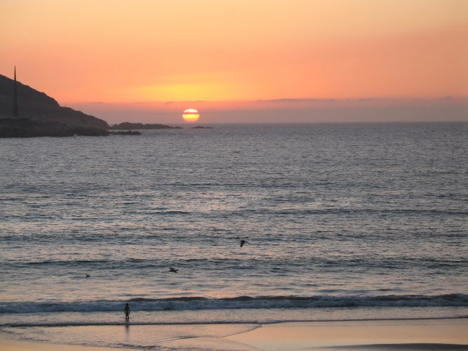 Couchers de soleil pris depuis le Paseo Maritimo (playa de Orzan) et à promité de la Torre de Hércules.