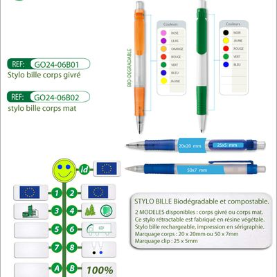 Stylo publicitaire VEGETAL PEN biodégradable