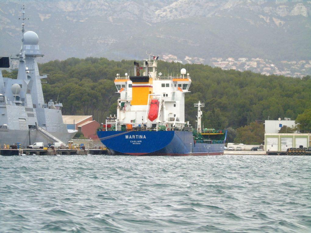 MARTINA , a quai dans la base navale de Toulon le 05 novembre 2018