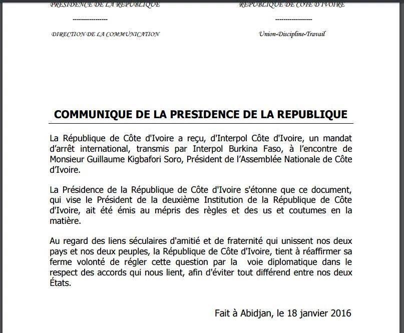 #MandatDarrêtSoro / Décryptage de l'embarrassé et embarrassant communiqué de #Ouattara (#ClaudusKouadio)