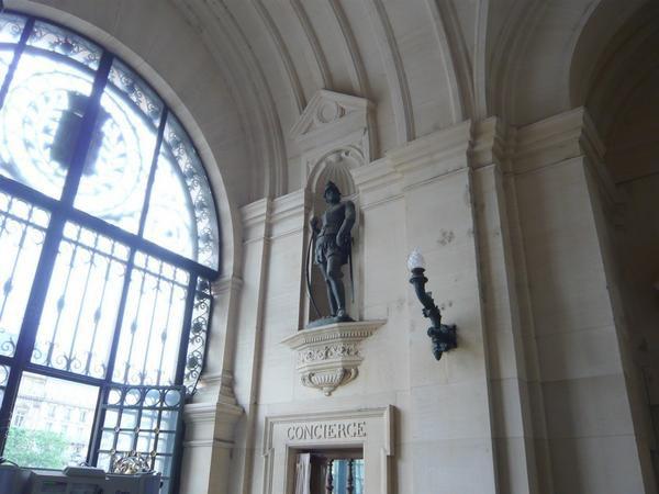 Visite de l'expo. sur le porte-avions Charles de Gaulle à l'Hôtel de Ville le 29 mai 2008
