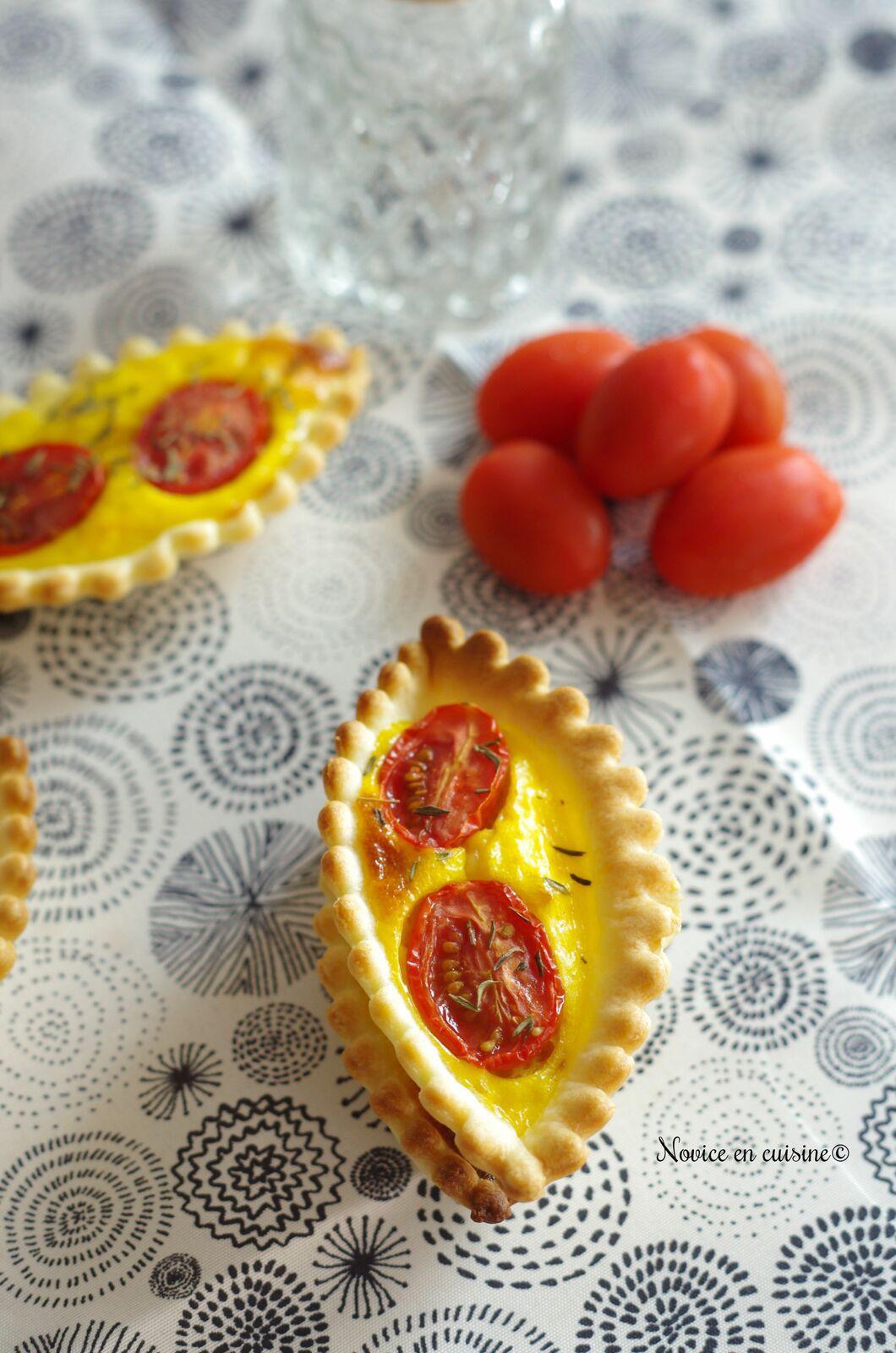 Minis quiches au skyr/jambon cru/mozarella/tomates cerises