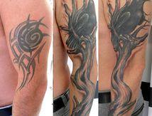 recouvrement tatouage tribal