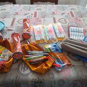 les stylos du sac à cadeaux