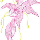 Air Flowers embroidery design