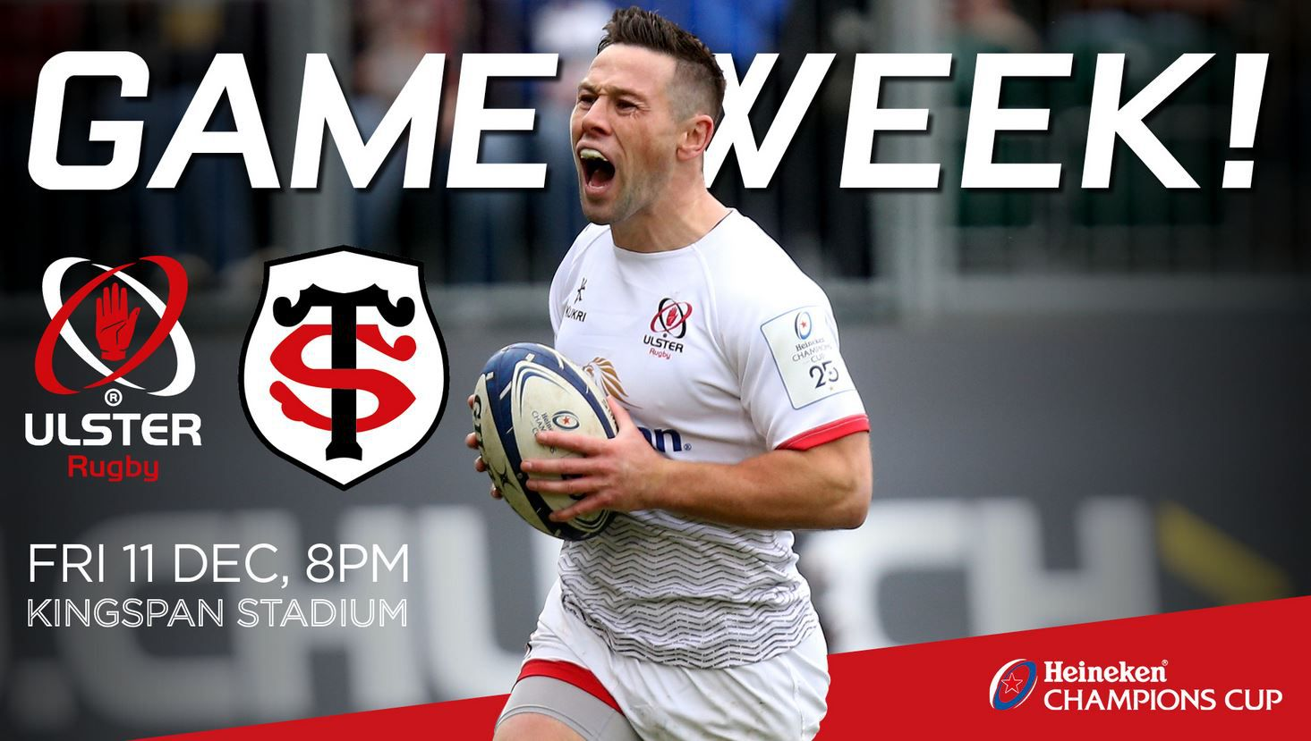 Ulster / Stade Toulousain (Champions Cup) en direct vendredi sur beIN SPORTS !