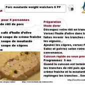 Porc moutarde weight watchers recette cookeo |