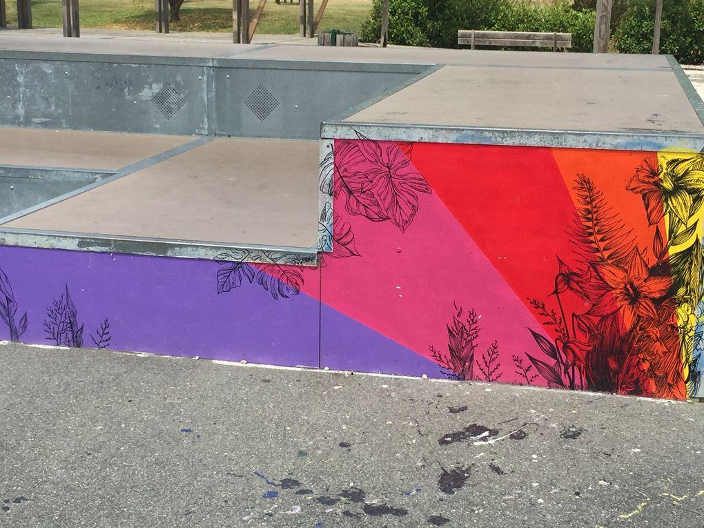 peinture murale, tag, graffiti, au skate parc de Pibrac, sur charlotteblabla blog