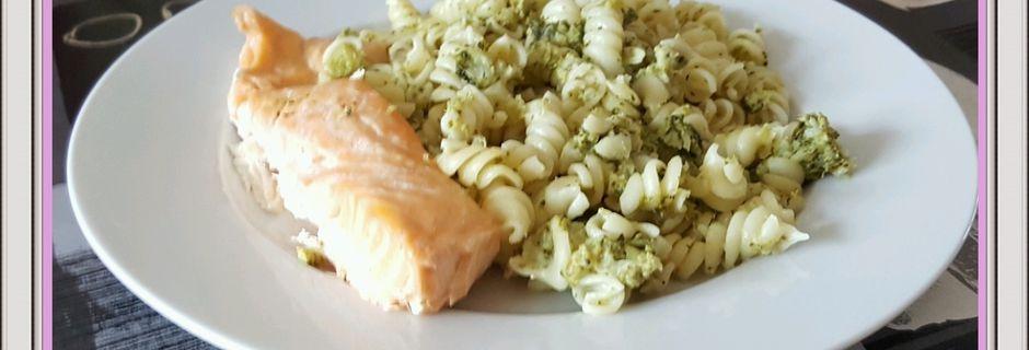 Pâtes au saumon et aux brocolis (Cookeo)
