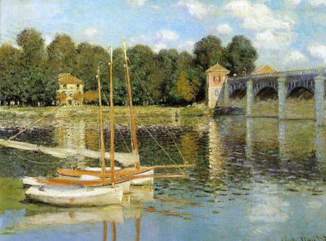 Vue du pont sur l'Oise par Claude Monet, impressionniste.