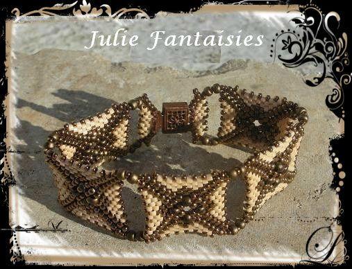 Bracelet Asteride Choco beige