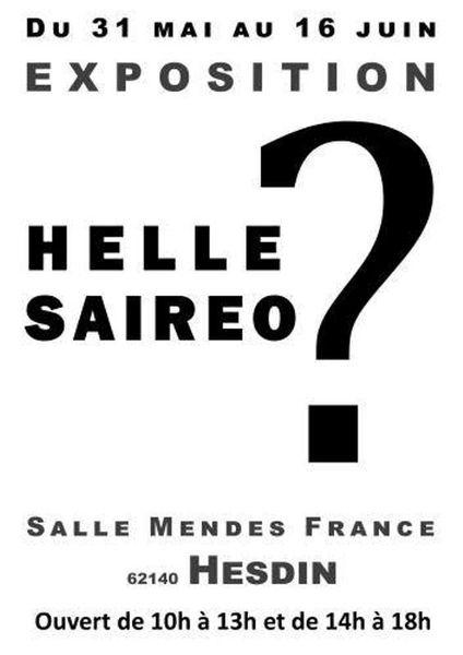SAIREO & HELLE ...EXPOSENT à HESDIN... ENCORE QUELQUES JOURS ...