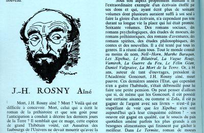 J.-H. Rosny aîné, par Jean Cabanel in Bulletin des amateurs d'anticipation ancienne et de littérature fantastique n°21 bis de Noël 1998