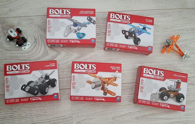 Découverte des nouvelles boîtes Meccano Bolts.