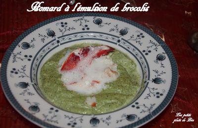 Homard à l'émulsion de brocolis