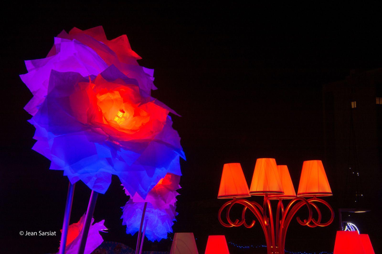 ILLUMINATIONS à MOURENX : L'éclosion de pivoines et de lanternes multicolores