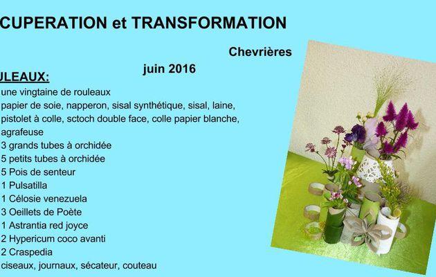 Récupération et transformation : rouleaux