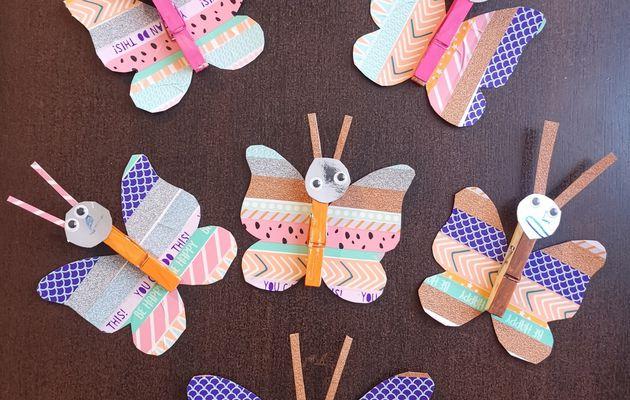 DIY : un porte mémo papillon en masking tape