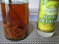 4 - Au terme de ces 5 jours, additionner le sirop de sucre de canne, mélanger bien et laisser macérer encore pendant quinze jours.