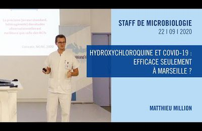 Hydroxychloroquine : efficace seulement à Marseille ?