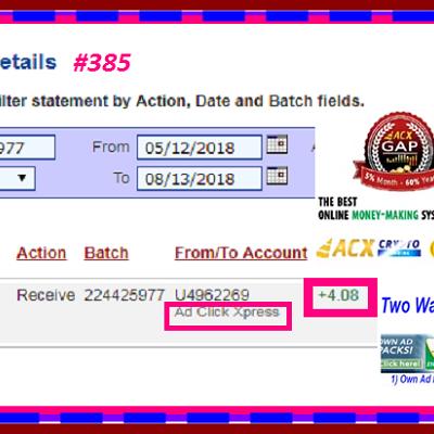 d Click Xpress Withdrawal Proof #385