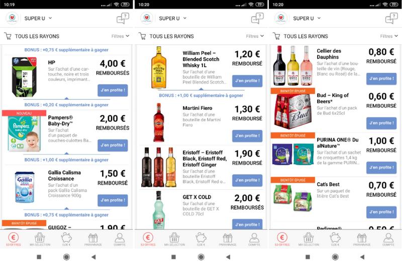 captures d'écran du site et de l'application smartphone Coupon Network (tous droits réservés) @ Tests et Bons Plans