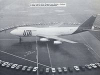 First picture, François France (UTA CEO) and T.A. Wilson (Boeing CEO) / last picture was taken in Abidjan, Côte d'Ivoire