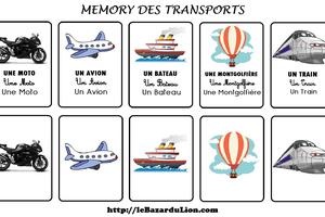 Le Memory des Transports (Annexe : Le loup qui ne voulait plus marcher) [Dossier][Maternelle][CP]