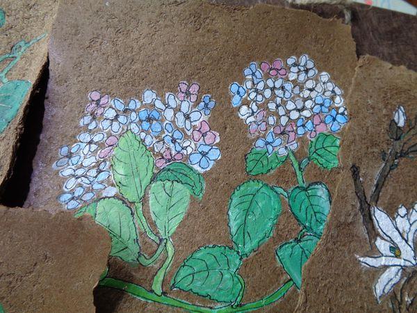 Papier de champignon et illustrations d'inspiration japonaise