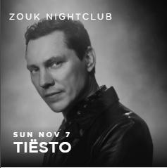 Tiësto date | Zouk Nightclub | Las Vegas, NV - november 07, 2021