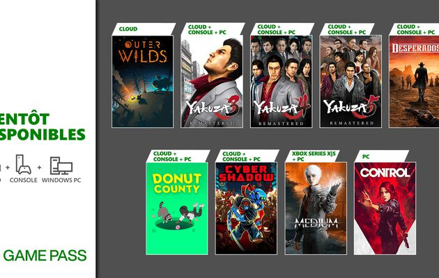 [ACTUALITE] Xbox Game Pass - Yakuza Remastered Collection, The Medium et d'autres jeux annoncés