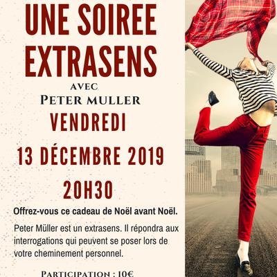 13 décembre : Une soirée EXTRASENS avec Peter MULLER