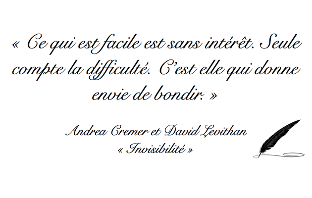 Citation Andrea Cremer et David Levithan