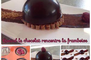 Quand le chocolat rencontre la framboise